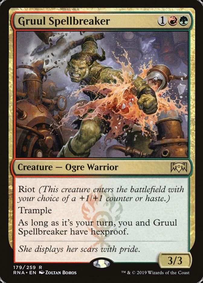 Gruul Spellbreaker Magic Ravnica Allegiance