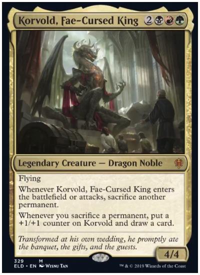Korvold, Fae-Cursed King screenshot MTG Brawl
