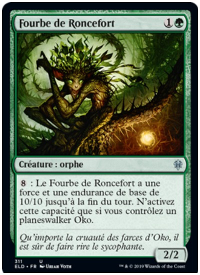 Ronceesfort Fawn French MTG Throne of Eldraine