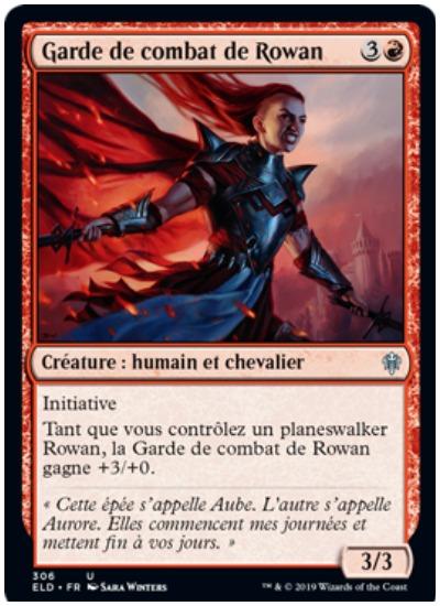 Rowan's Bodyguard French MTG Throne of Eldraine