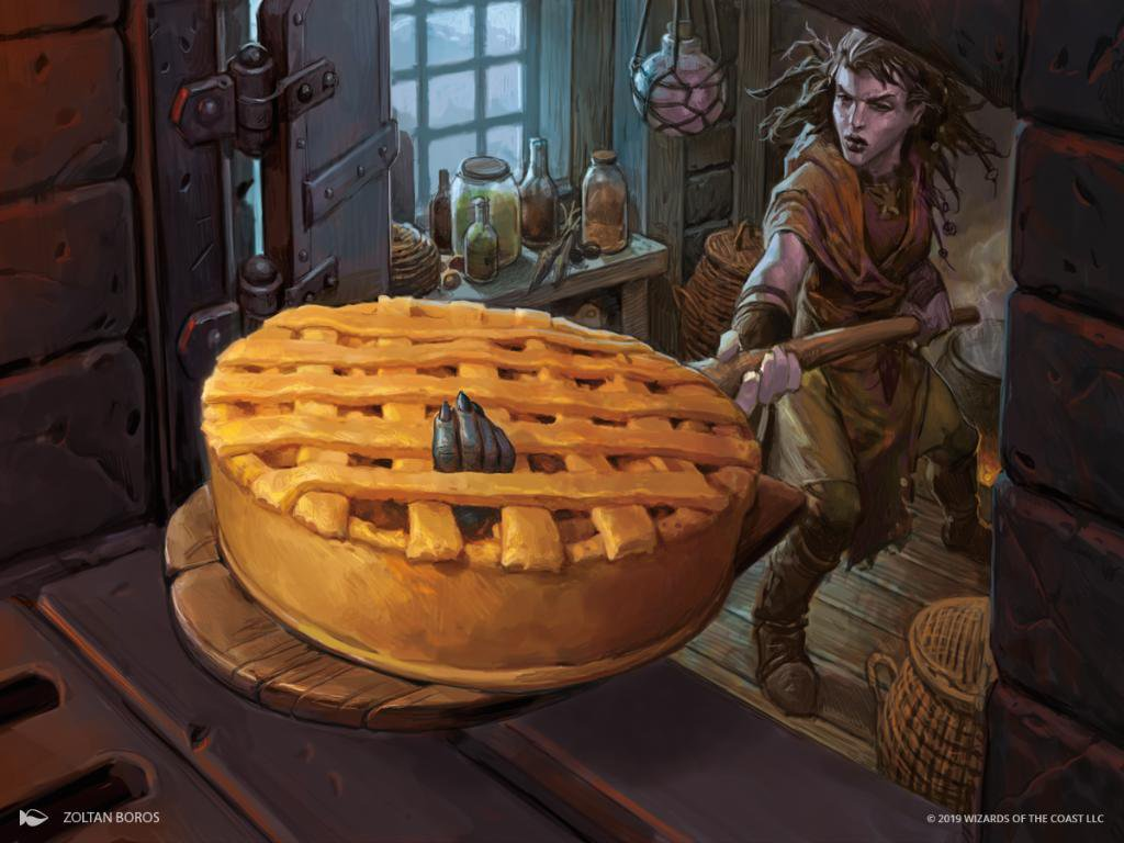 Baked into a Pie Art Magic the Gathering