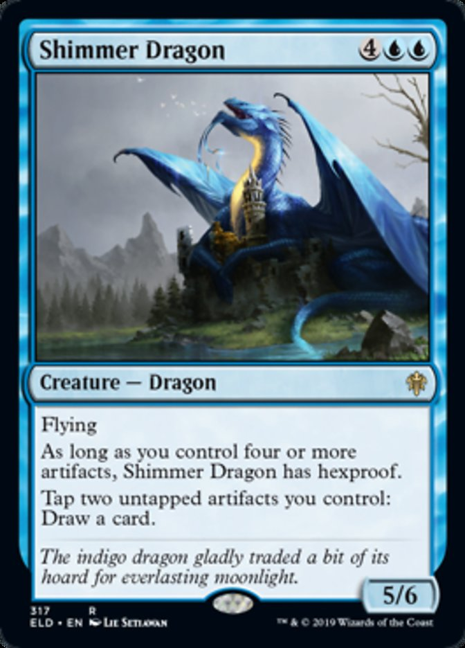 Shimmer Dragon Spoiler Magic Throne of Eldraine