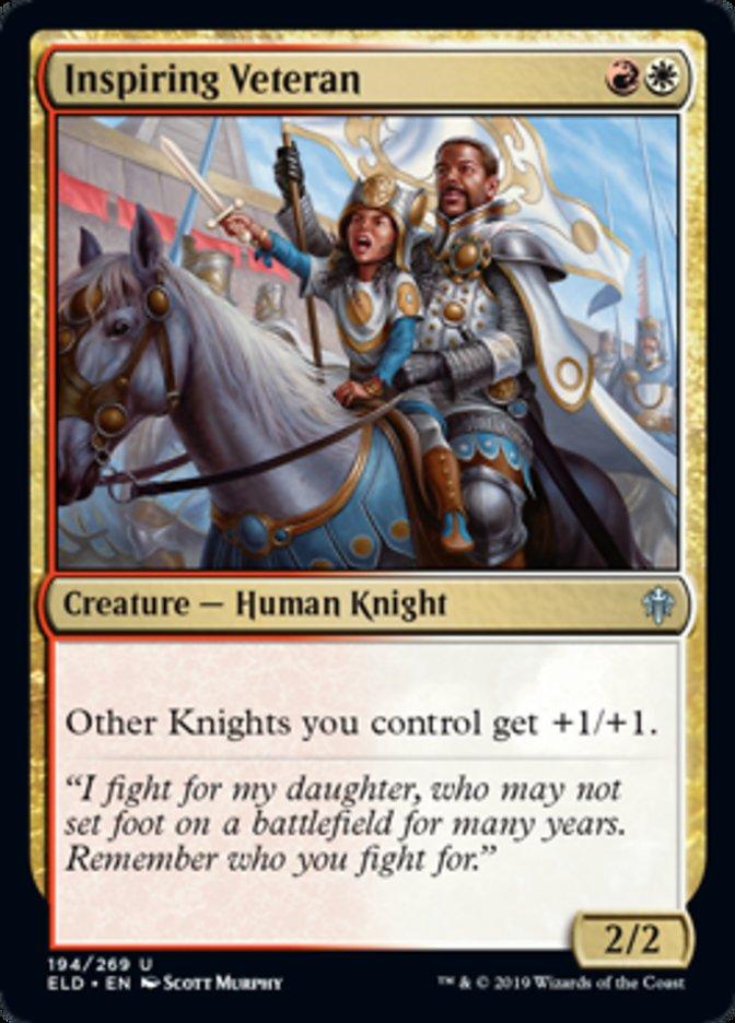 Inspiring Veteran Spoiler Magic Throne of Eldraine