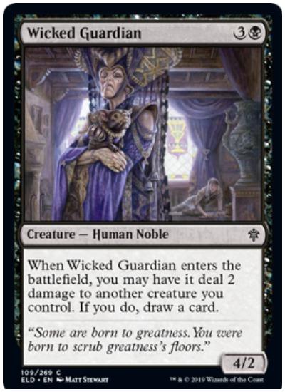 Wicked Guardian MTG Throne of Eldraine