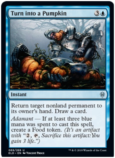 Turn into a Pumpkin MTG Throne of Eldraine