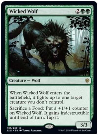 Wicked Wolf MTG Throne of Eldraine