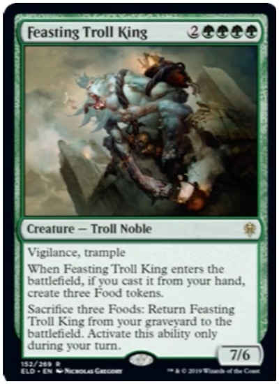 Feasting Troll King Throne of Eldraine