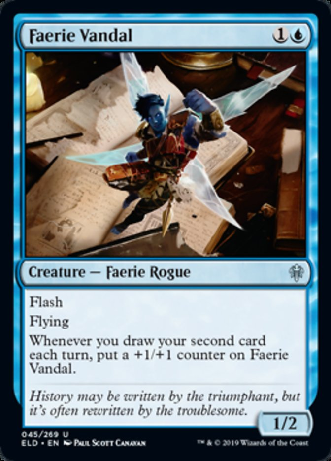 Faerie Vandal Spoiler Magic Throne of Eldraine