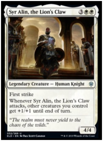 Syr Alin, the Lion's Claw ELD