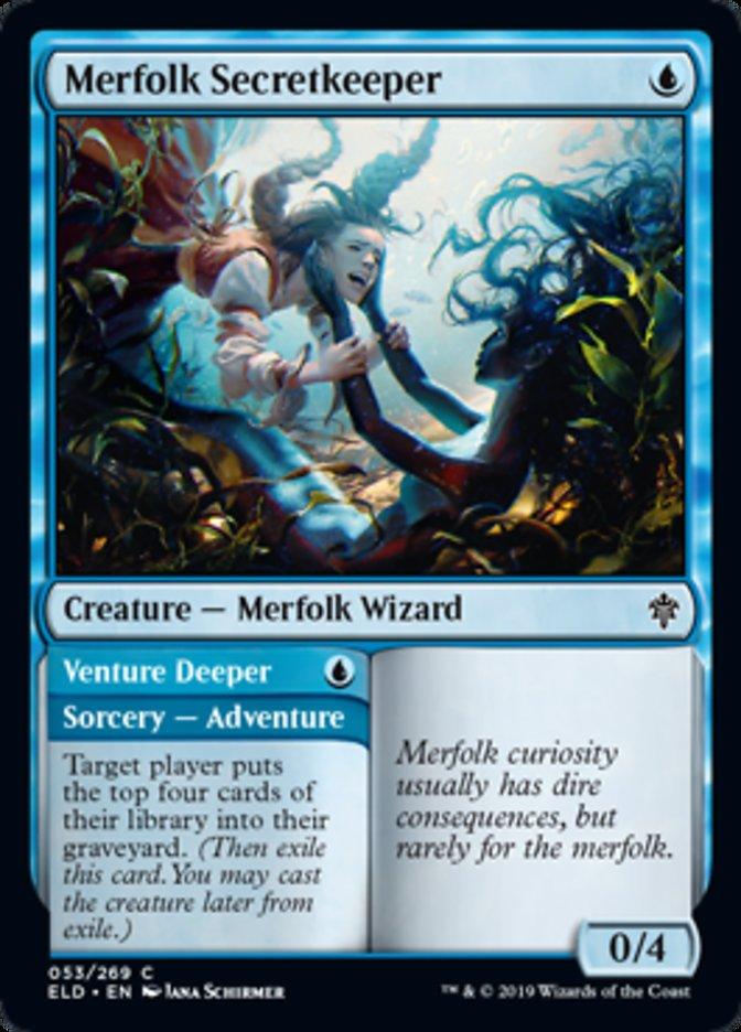 Merfolk Secretkeeper Magic Throne of Eldraine