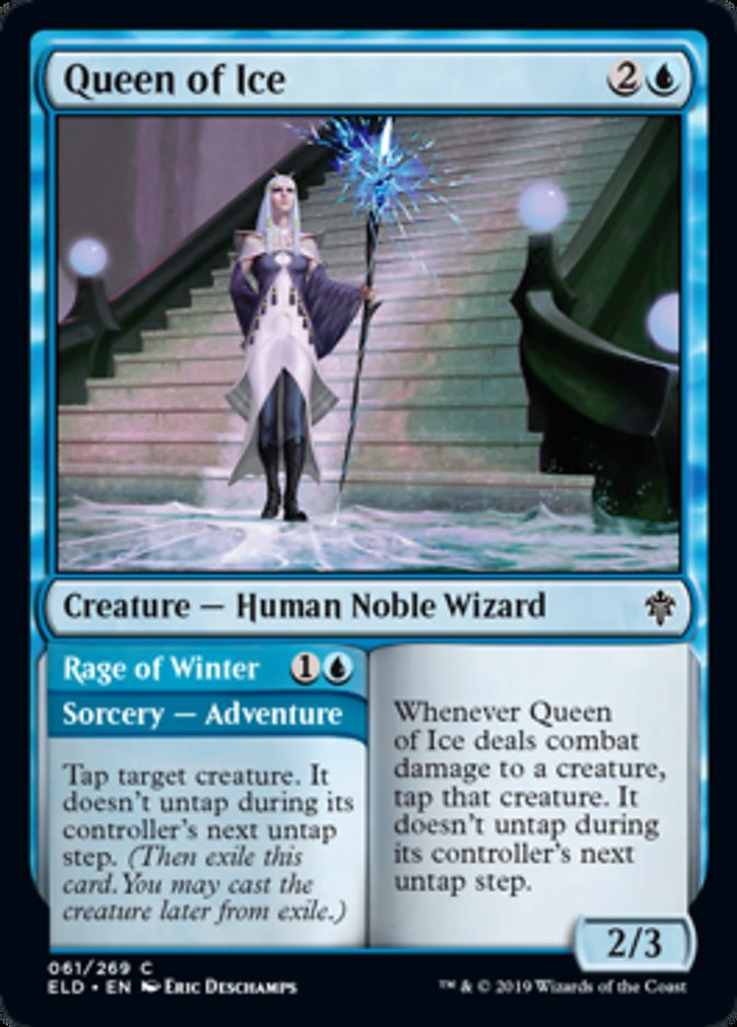 Queen of Ice Magic Throne of Eldraine
