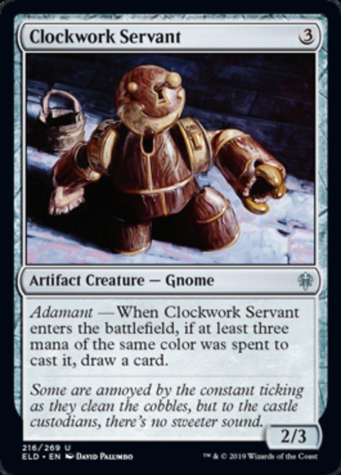 Clockwork Servant Magic Throne of Eldraine