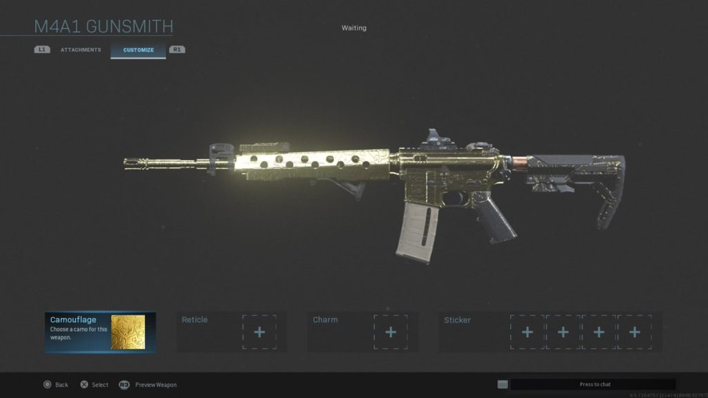 How To Unlock Gold Platinum And Damascus Camos In Call Of Duty Modern Warfare Dot Esports