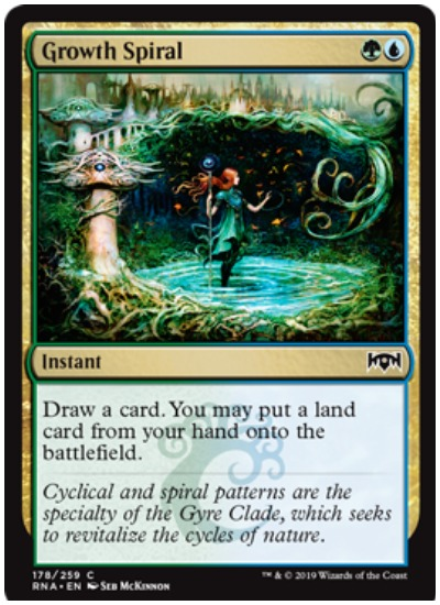 The Standard meta is taking shape following rotation and the release of the Throne of Eldraine (ELD) set with several cards being a favorite at Mythic Championship V.   A majority of the archetypes being played at Mythic Championship V are in the colors of Blue and Green, with White creeping its way in via one of the best performing planeswalkers in Standard. With Simic and Bant (Blue, Green, White) being the top two archetypes in the meta, players are choosing only the best to include in their Mythic Championship V decks.   Once Upon a Time  Able to fetch lands or creatures, Once Upon a Time is a must have card in any archetype with Green in it. The ELD Instant has been called the best in the set. And with 169 copies at MCV, Once Upon a Time lives up to its reputation as the most-played card in Standard at the moment.   Hydroid Krasis  Due to the large number of Simic and Bant decks, Hydroid Krasis is a card everyone wants to play. While not a card players will utilize in the early stages of a match, it provides stability in the late game through evasion, cantrip, and lifegain. With 156 copies being played at MCV, expect to see Hydroid Krasis take to the air a lot.   Growth Spiral  Growth Spiral has been one of the most played cards in Standard since its release. Providing card draw while also opening up the opportunity to drop an additional land is a must have in a Simic deck when attempting to drop Nissa early or Oko on turn three.   Likewise with Bant, in that an additional land gets a player closer to amassing zombies or casting Golos to search for Field of the Dead. There are 138 copies of Growth Spiral being played and if Once Upon a Time didn't exist, it would likely be the most-played card in Standard.   Fabled Passage  Bant Golos decks love Fabled Passage because it triggers Field of the Dead twice in one turn. As a land it comes onto the battlefield (creating zombies) and then is sacrificed by the player to search their library for another basic land (tri