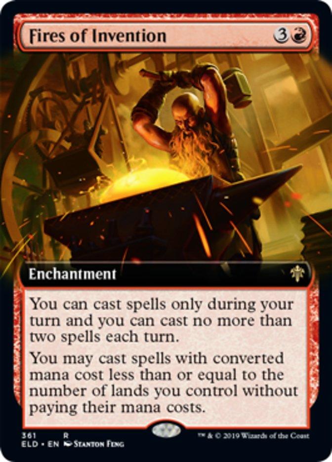 Fires of Invention Magic Throne of Eldraine