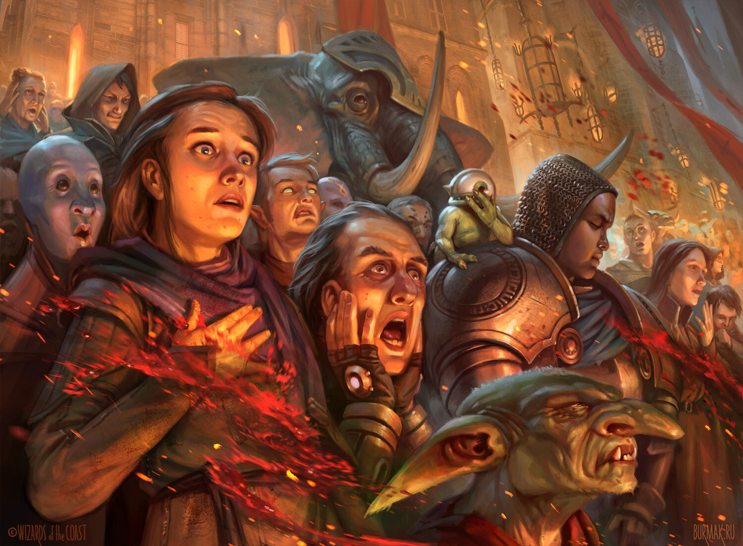 Captive Audience Art Magic Ravnica Allegiance