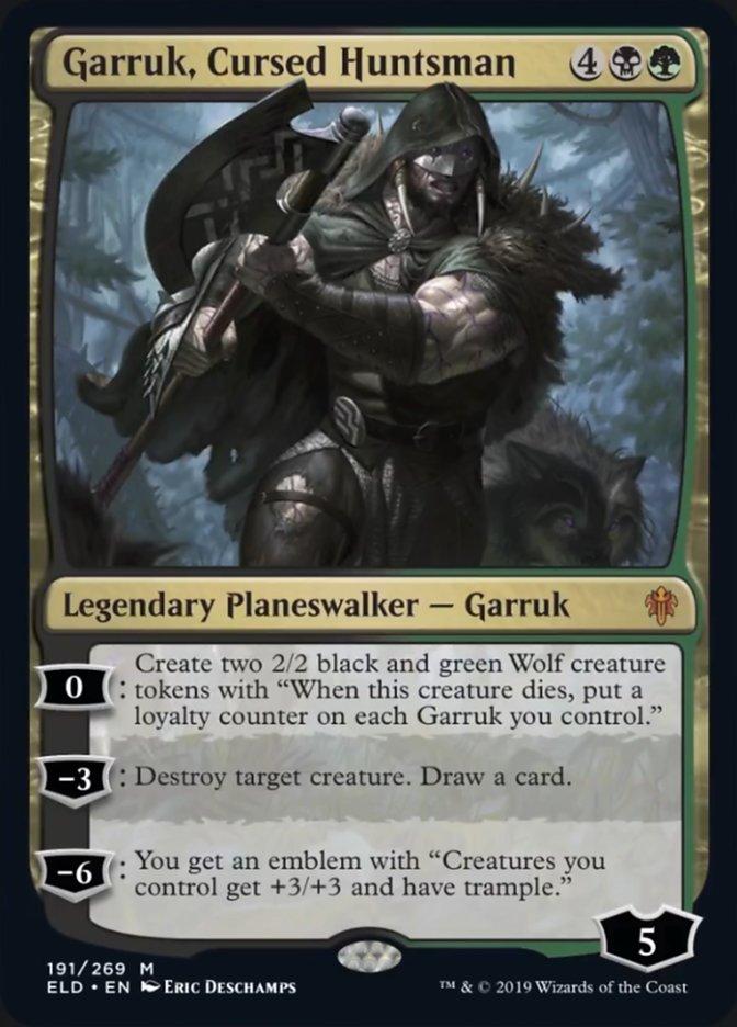 Garruk Cursed Huntsman Magic Throne of Eldraine