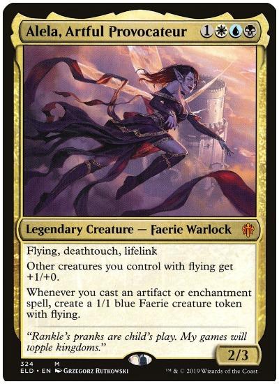 Alela, Artful Provocateur Throne of Eldraine Brawl Commander
