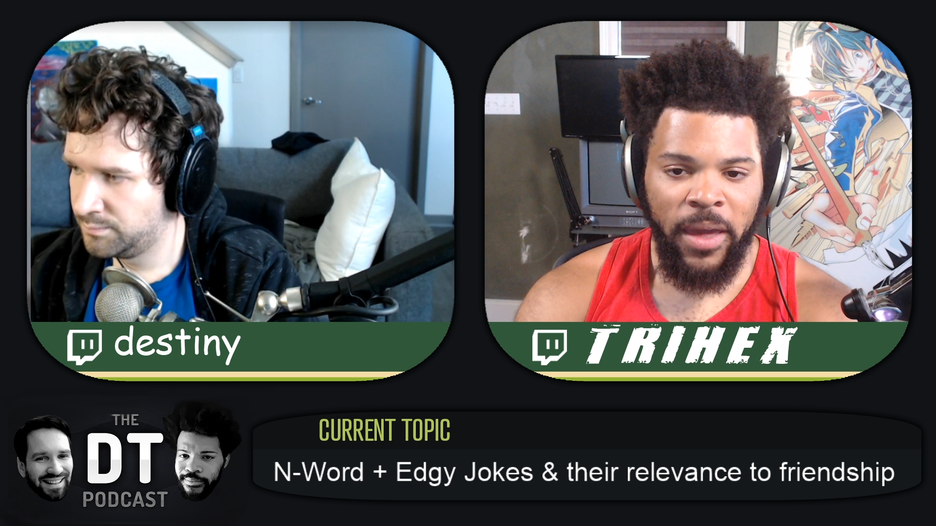 Trihex and Destiny end their podcast over use of the n-word | Dot Esports