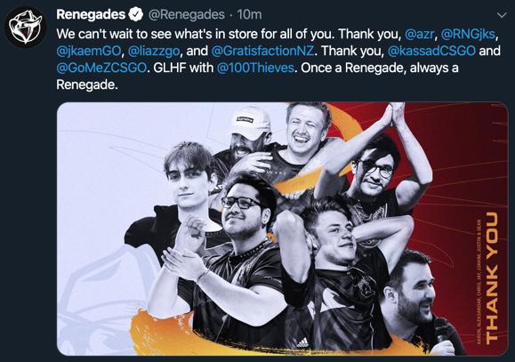 Renegades Cs Go Roster
