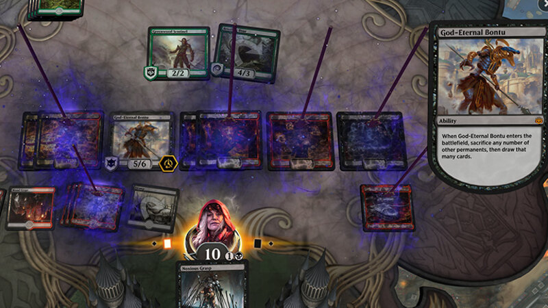 Magic the Gathering Arena gameplay