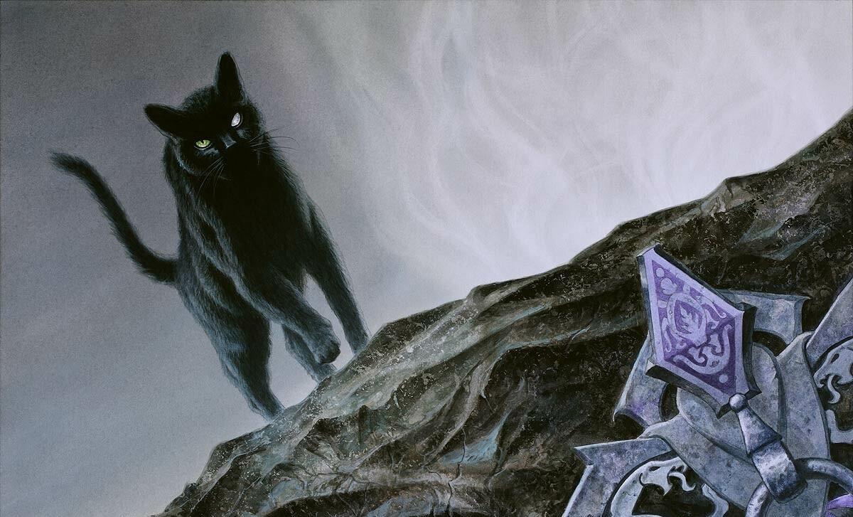 Cauldron Familiar Art Magic Throne of Eldraine