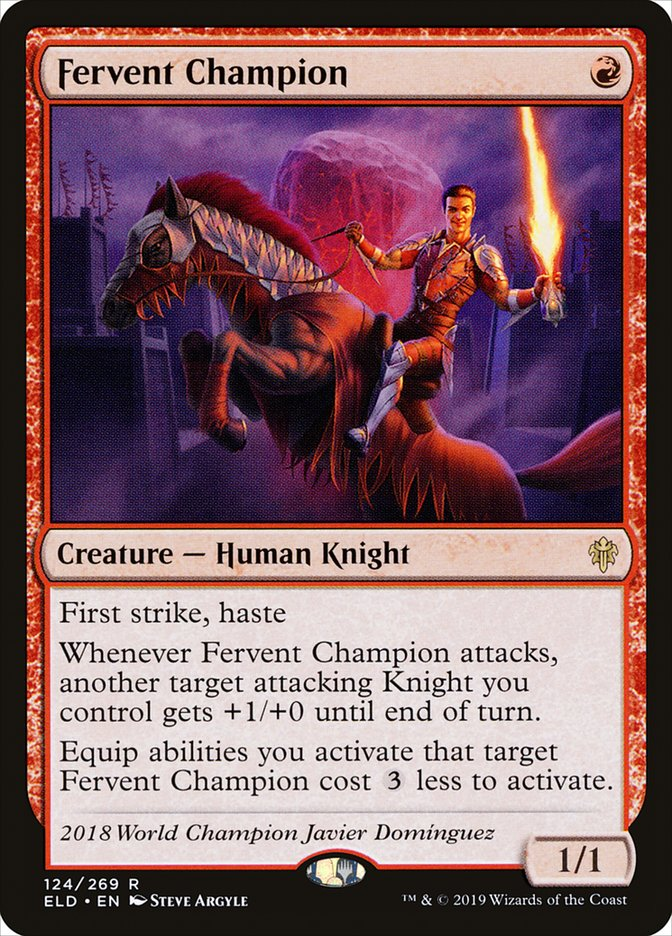 Fervent Champion Magic Throne of Eldraine