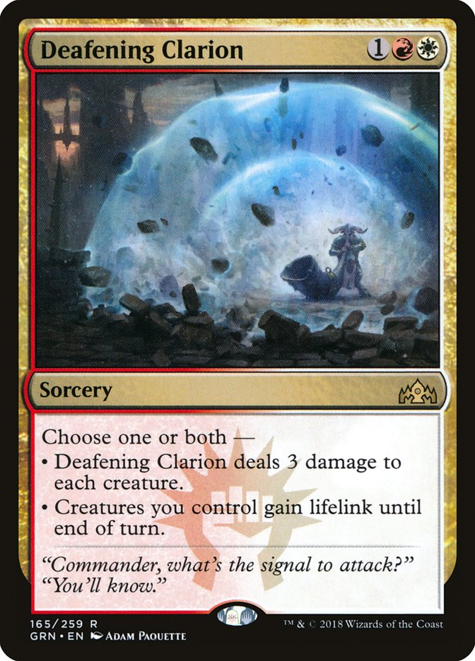 Deafening Clarion Magic Guilds of Ravnica