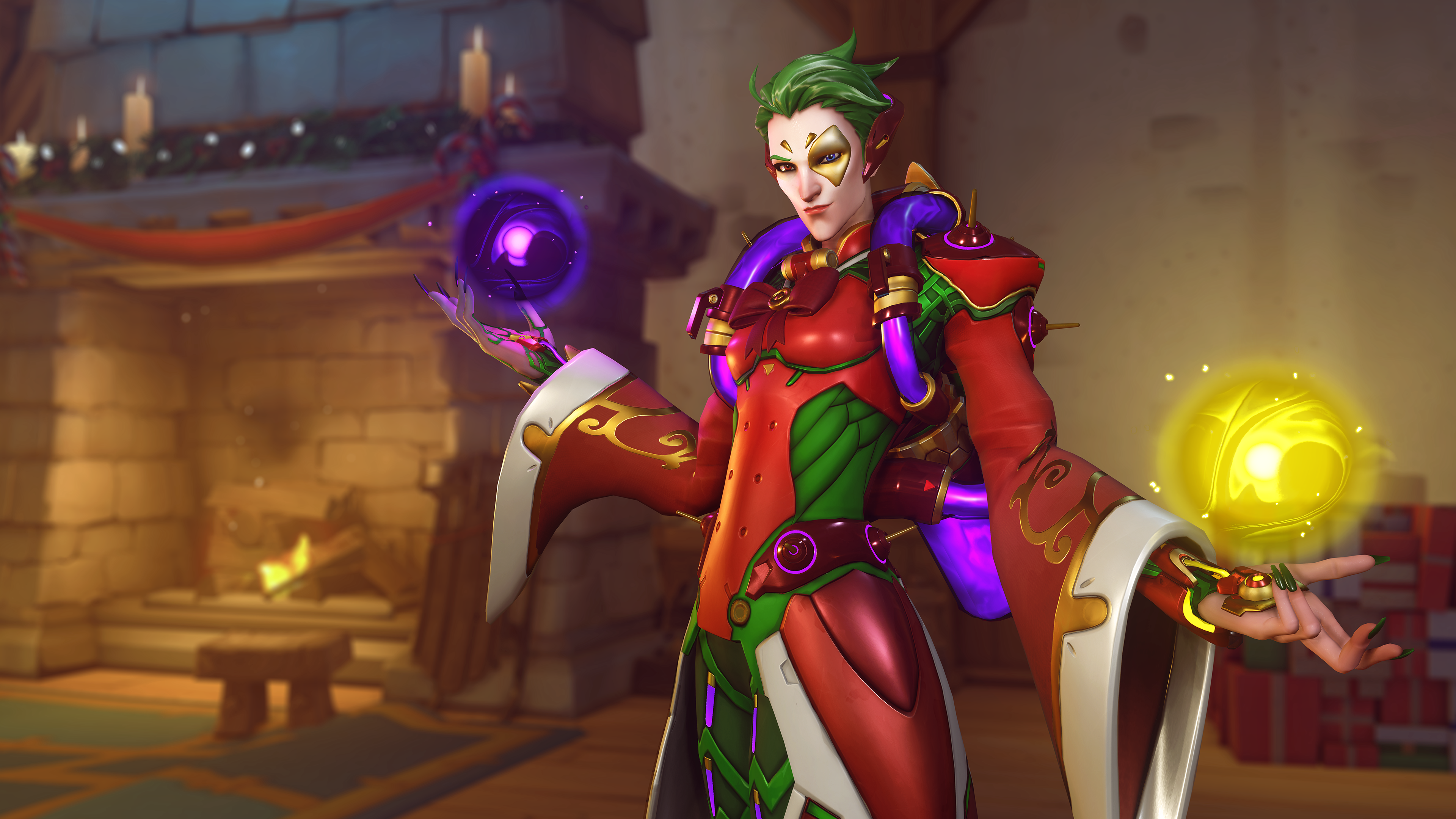 Moira Christmas Skin 2021 All Of Overwatch S Winter Wonderland Weekly Challenges Dot Esports
