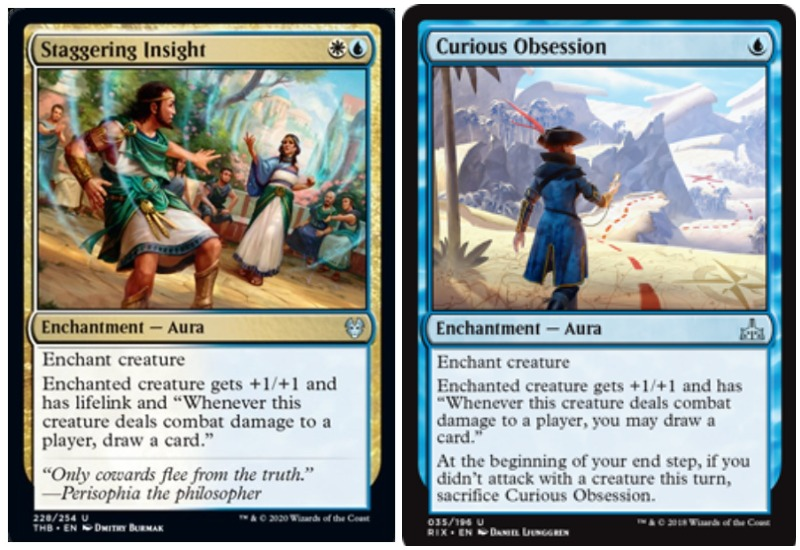 Staggering Insight vs Curious Obsession MTG