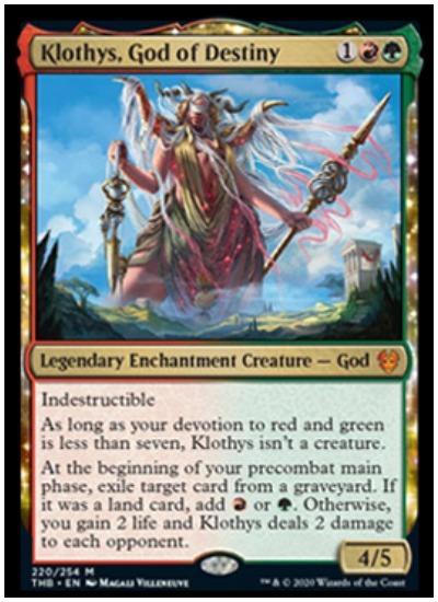 Klothys, God of Destiny THB MTG