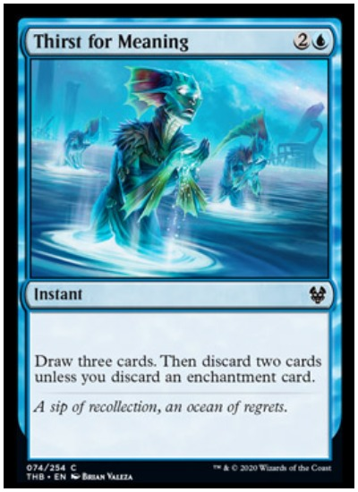 Thirst for Meaning THB Magic The Gathering