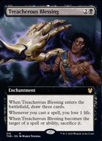 Treacherous Blessing Spoiler Magic Theros Beyond Death