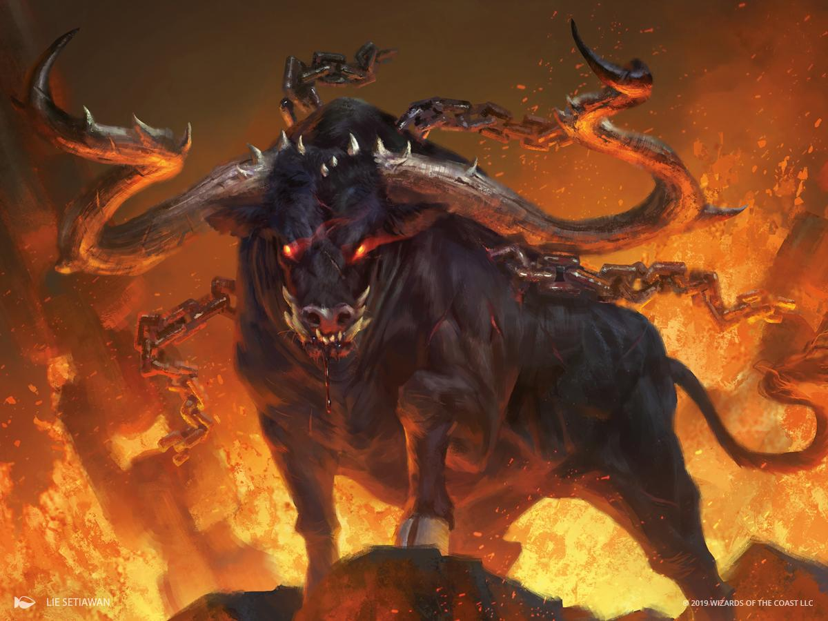 Ox of Agonas Art Magic Theros Beyond Death