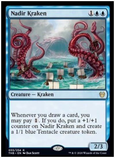 Nadir Kraken THB Magic The Gathering