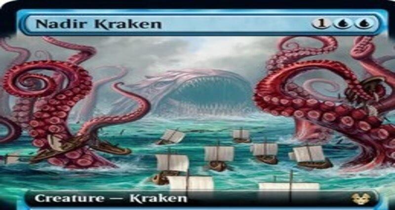 Nadir Kraken THB Extended Art MTG