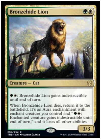 Bronzehide Lion THB MTG