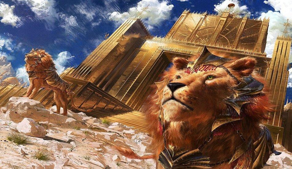 Magic MTG NearMint Bronzehide Lion ~ Theros Beyond Death