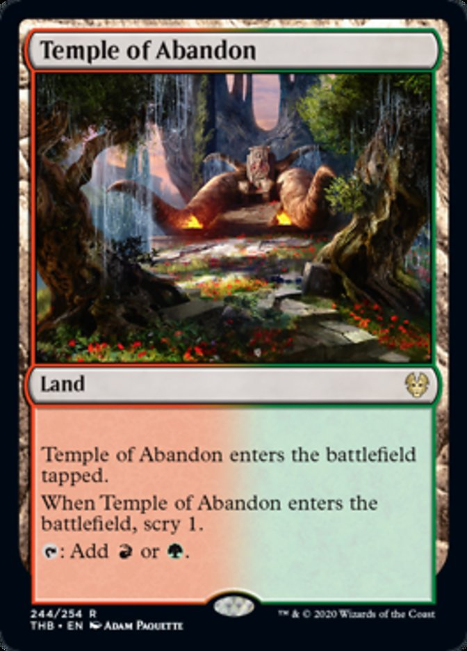 Temple of Abandon Spoiler Magic Theros Beyond Death