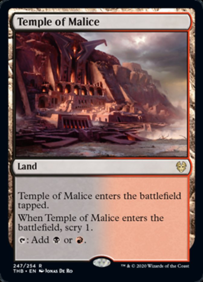 Temple of Malice Spoiler Magic Theros Beyond Death
