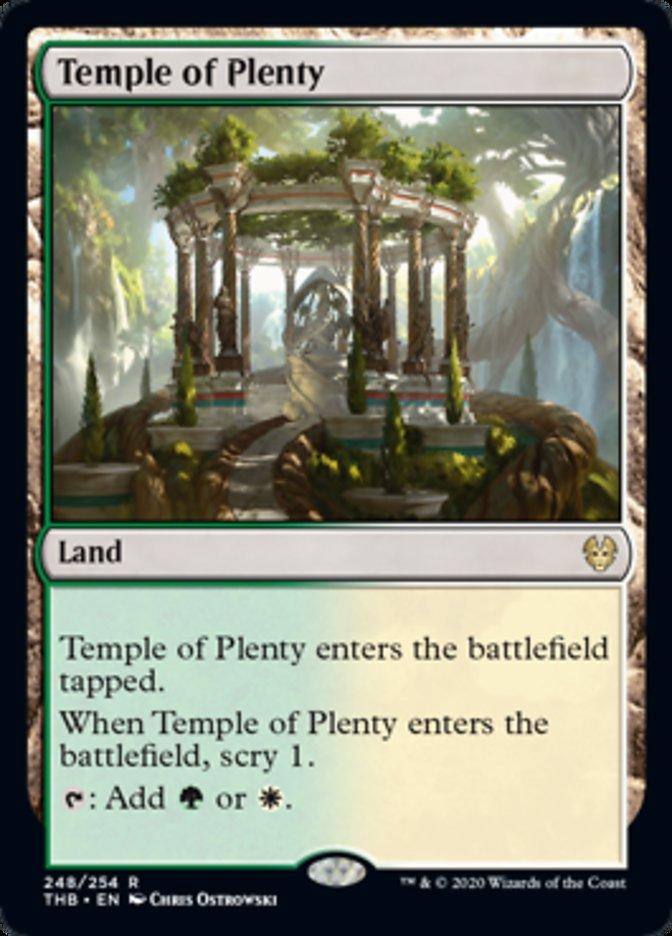 Temple of Plenty Spoiler Magic Theros Beyond Death