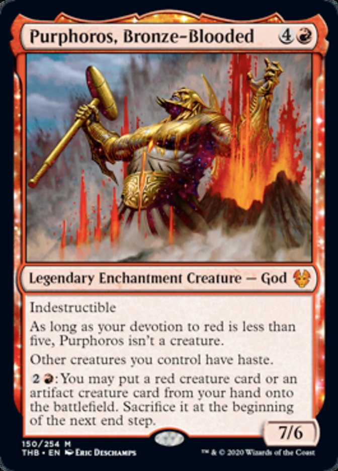 Purphoros, Bronze-Blooded Spoiler Magic Theros Beyond Death