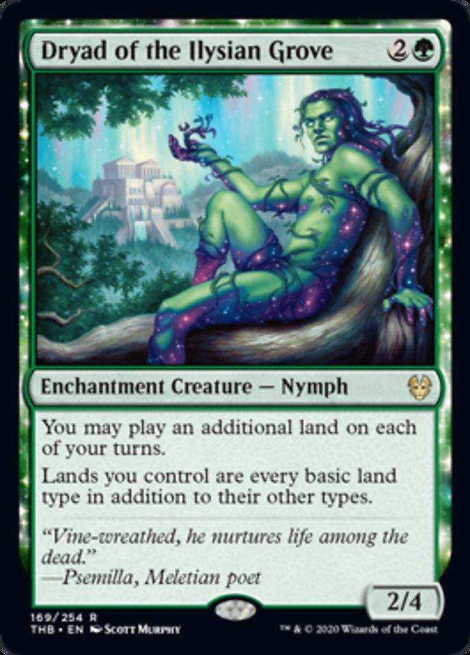 Dryad of Ilysian Grove Spoiler Magic Theros Beyond Death
