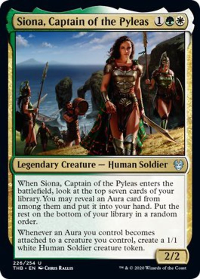 Siona Captain of the Pyleas Spoiler Magic Theros Beyond Death