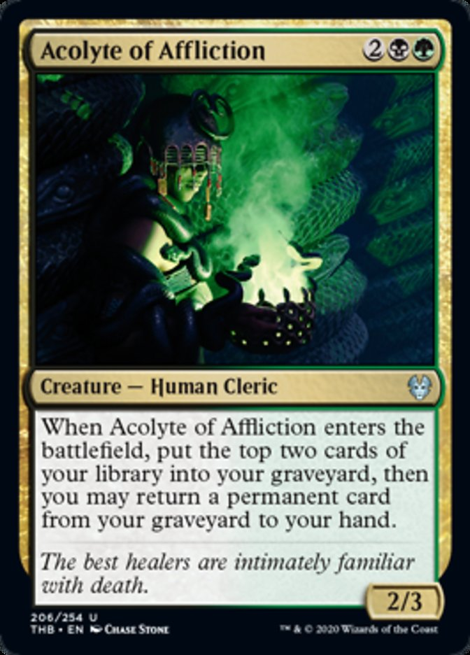 Acolyte of Affliction Spoiler Magic Theros Beyond Death