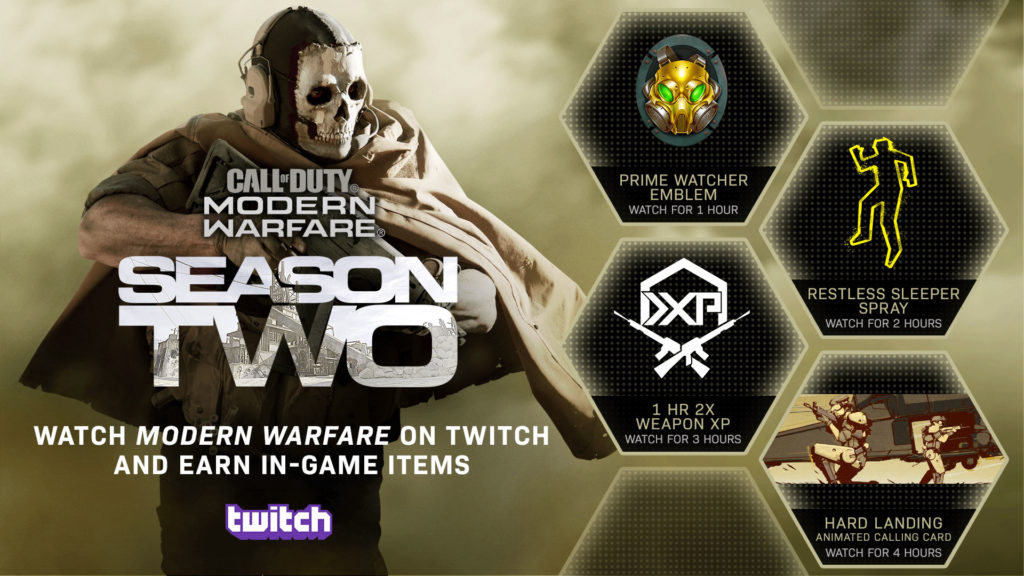 Call Of Duty Modern Warfare Brings Back Twitch Drops To Celebrate