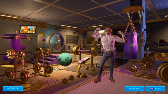 Agent Meowscles room and cinematic leaked in Fortnite