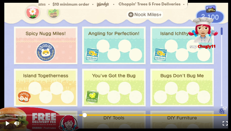 Wendy's streams Animal Crossing: New Horizon to promote free delivery deal