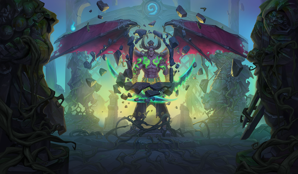 Warlock Legendary Kanrethad Ebonlocke coming in Hearthstone's Ashes of Outland expansion