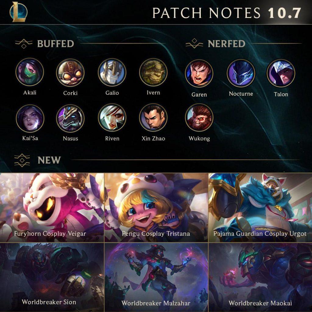 League Of Legends Patch 10 7 Full Notes And Updates Dot Esports Çoğu yordle enerjisini keşifler, icatlar veya sadece yaramazlık yapmak için kullansa da tristana hep büyük savaşçıların maceralarında kendine ilham bulmuş biri. league of legends patch 10 7 full